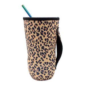 Leopard Print Koozie Beverage Cup Cover